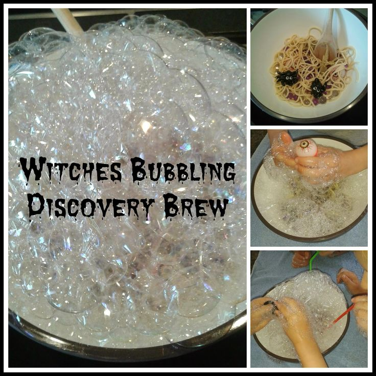 multicraftingmummy: Witches Bubbling Discovery Brew Great Halloween sensory activity! #Pintorials