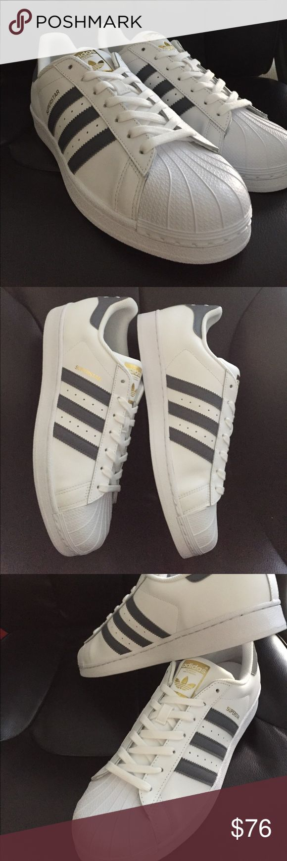 Adidas Mens Superstar Foundation in White/ Ónix and Gold. Size No trades. adidas  Shoes Athletic Shoes - We reveal the news in sneakers ...