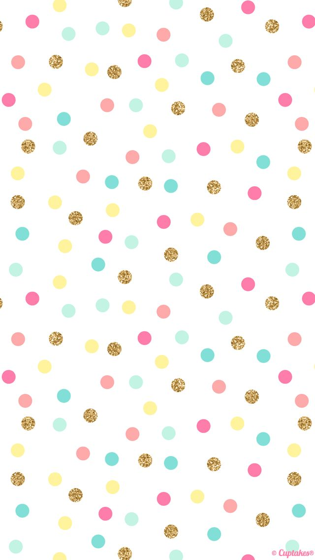 Mint pink gold confetti spots dots  iphone wallpaper phone background lock screen