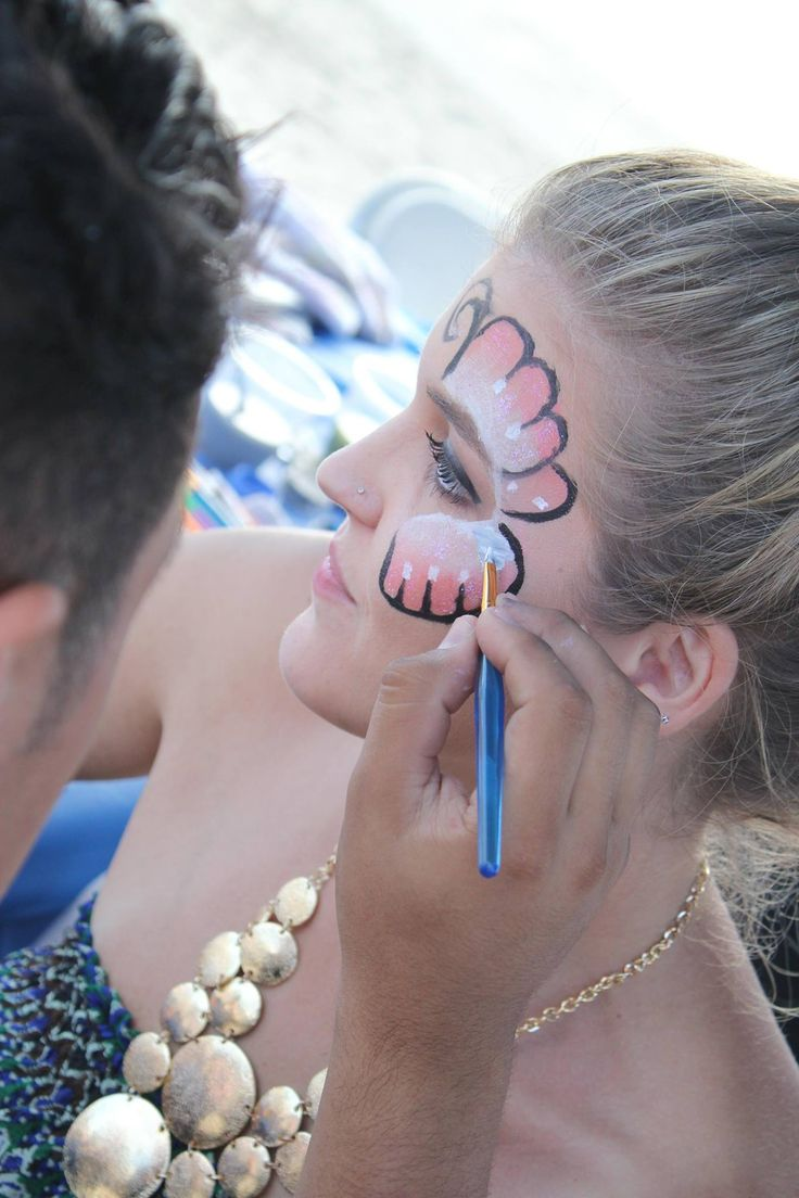 Face Painting is fun for adults too! Add these artists to your company picnic entertainment boards!