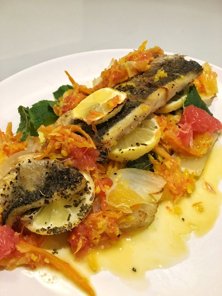 Sea Bass with Citrus Fruit