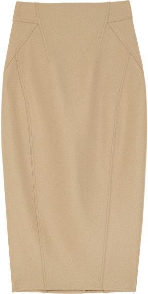 Stretch Wool-blend Pencil Skirt - Lyst