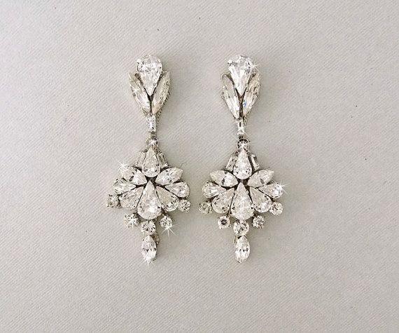 Boucles d'oreilles chandelier style retro chic Vintage (Earrings)