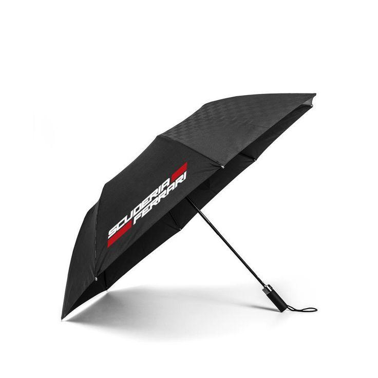Scuderia Ferrari Formula 1 Authentic 2018 Black Compact Umbrella