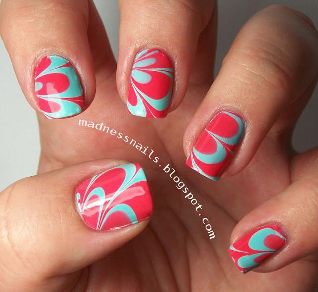 Marble Nail Art: 17 Best Images About Water Marble Nail Designs On