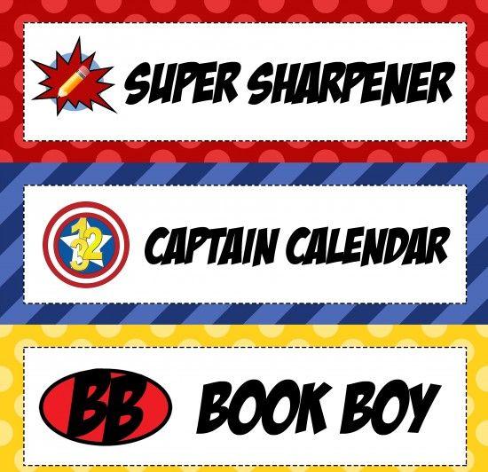 Superhero Classroom Helpers Bulletin Board Idea