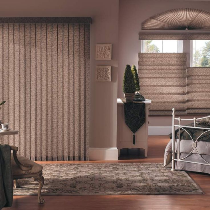 Bali fabric vertical blinds add drama dimension and for Bali blinds