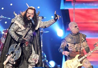 2006 Eurovision Winner (Finland) - Hard Rock Hallelujah - Lordi. 'Hard Rock Hallelujah' is a song by the Finnish hard rock band Lordi. 'Hard Rock Hallelujah' was released as a single in 2006, reaching the No. 1 spot in Finland and also peaking in the UK Top 40 at No. 25. Lordi performed 'Hard Rock Hallelujah' in the 2006 Eurovision Song Contest and won the contest with 292 points. It was voted as the most popular Finnish Eurovision... https://en.wikipedia.org/wiki/Hard_Rock_Hallelujah