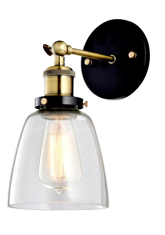 Vägglampa vintage - Mässing och glas i gruppen Lampor / Vägglampor hos Reforma Sthlm  (RH186)