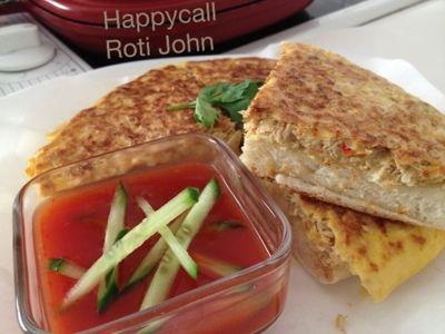 My Mind Patch: HappyCall tuna omelette pizza (Healthy Roti John)