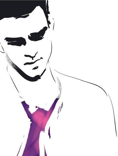 Fashion Illustration: Men on the Adweek Talent Gallery