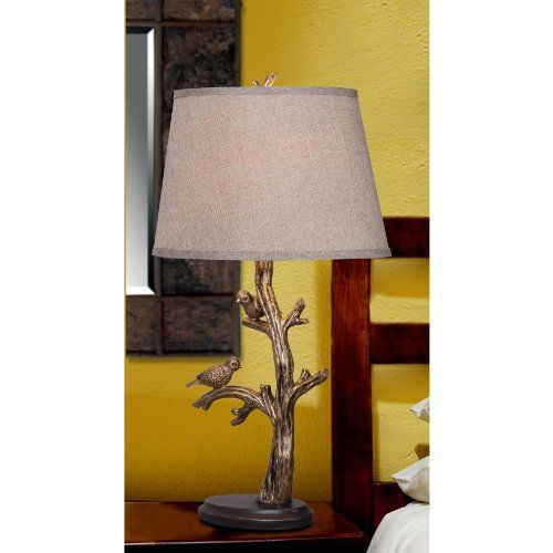 KENROY HOME 32295BRZD TWEETER TABLE LAMP, BRONZED FINISH  - Click image twice for more info - See a larger selection of traditional table lamps at http://tablelampgallery.com/product-category/traditional-table-lamps/  - home, home decor, lightning, gift ideas, lamp.