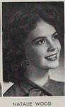 Natalie Wood - 1955 yearbook photo at Van Nuys High School in Van Nuys, California. Only 16!