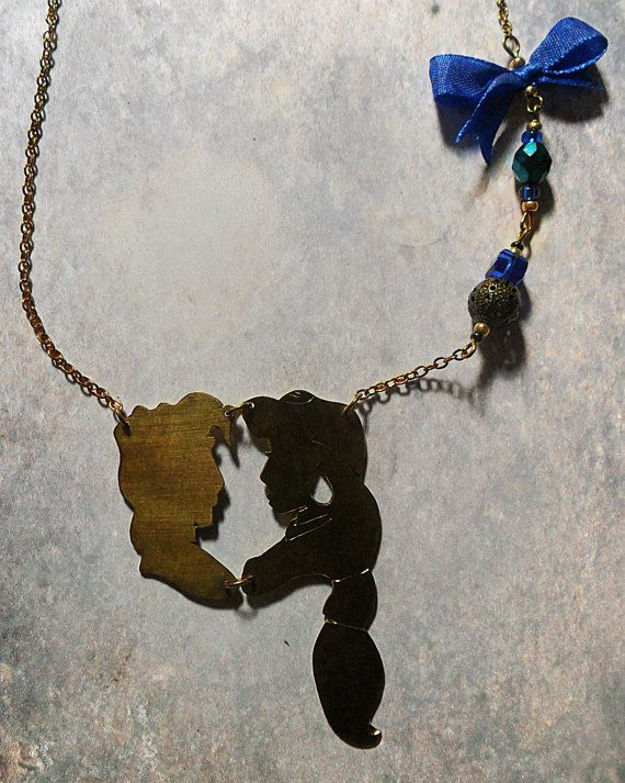 FREE SHIPPING Aladdin and Jasmine necklace by DoreeenkaJewellery