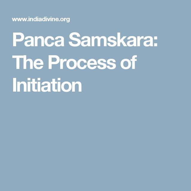 Panca Samskara: The Process of Initiation