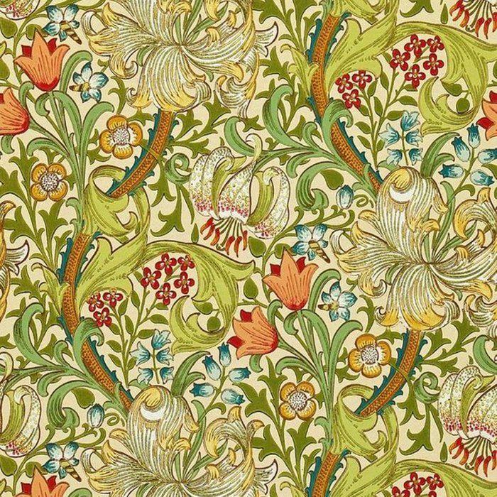 William Morris Golden Lily Vintage Pre Raphaelite Floral Duvet Cover By Vintageartstore Society6 Lily Wallpaper Morris Wallpapers Craftsman Wallpaper