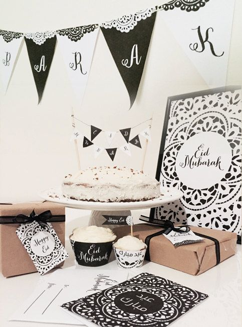 DIY Eid Decorations Black and White Doilie by FitrahStudio on Etsy