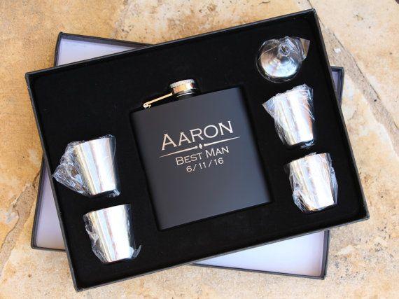 Groomsmen Gift Flask Set  Personalized by EngravingsOnDemand
