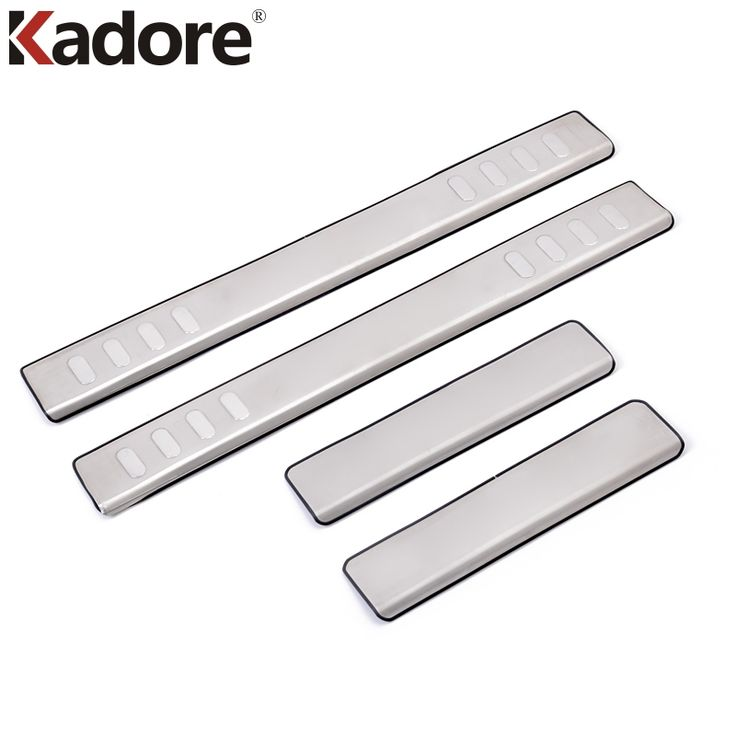 Kadore For Mitsubishi Outlander 2008 2009 2010 2011 Stainless Steel Auto Door Sill Protector Welcome Pedals Scuff Plate Cover #Affiliate