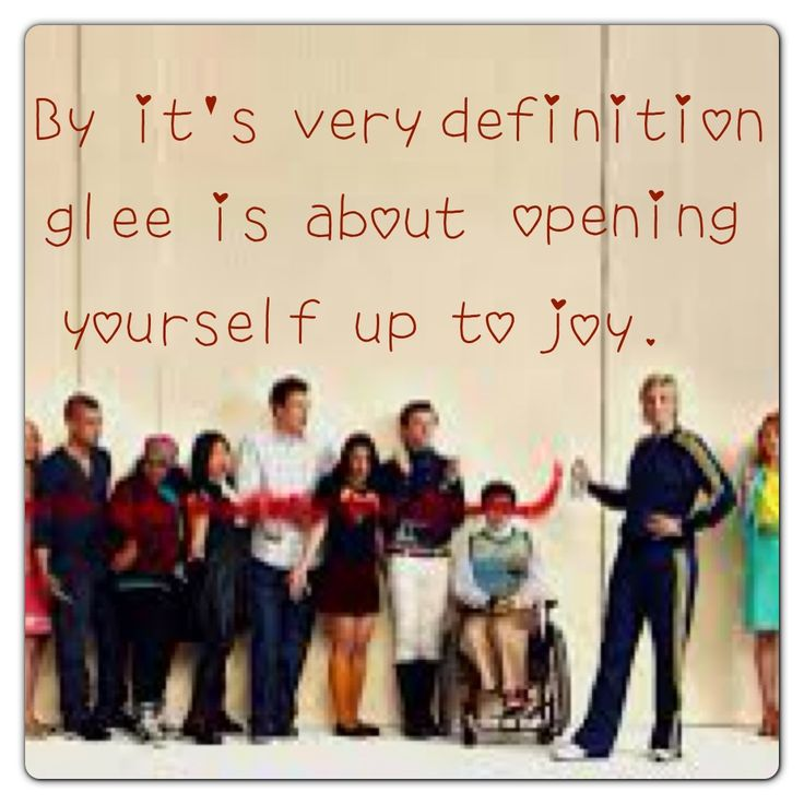 Glee quote (: