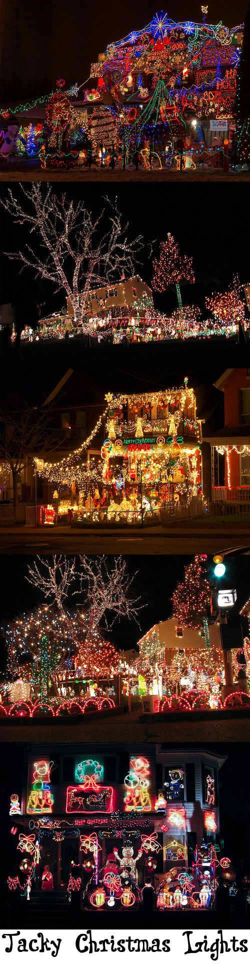 Tacky Christmas Lights, Crazy Christmas Lights, whatever you call them, the kids love them!