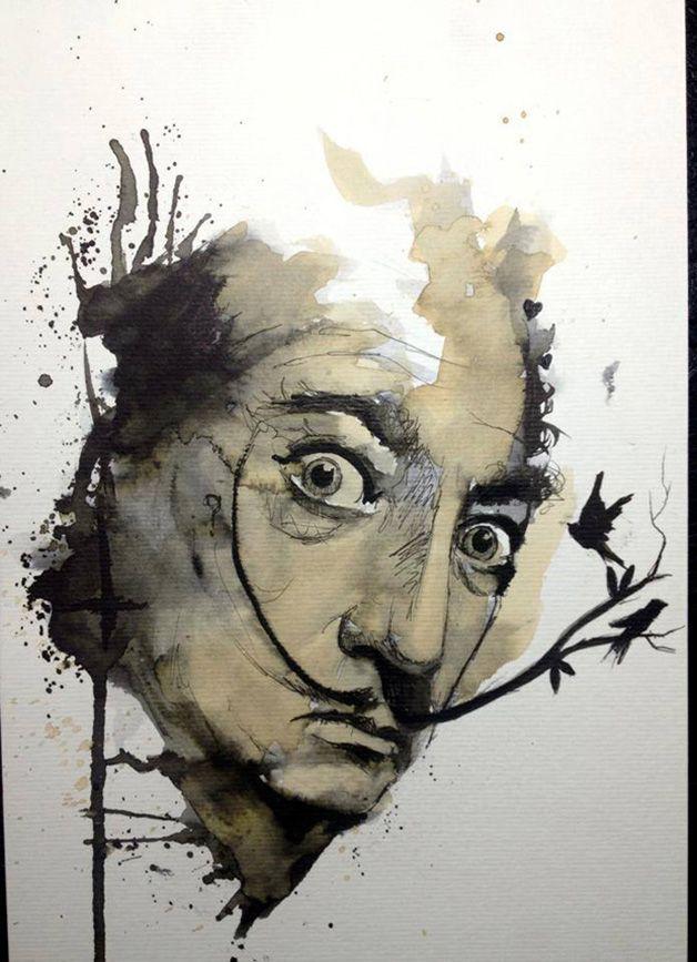 O fantástico aquarelado de Victor Octaviano Dalí!
