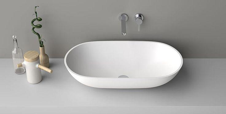Lavabo da appoggio in corian lavabo tondo o ovale for Lavabo softly