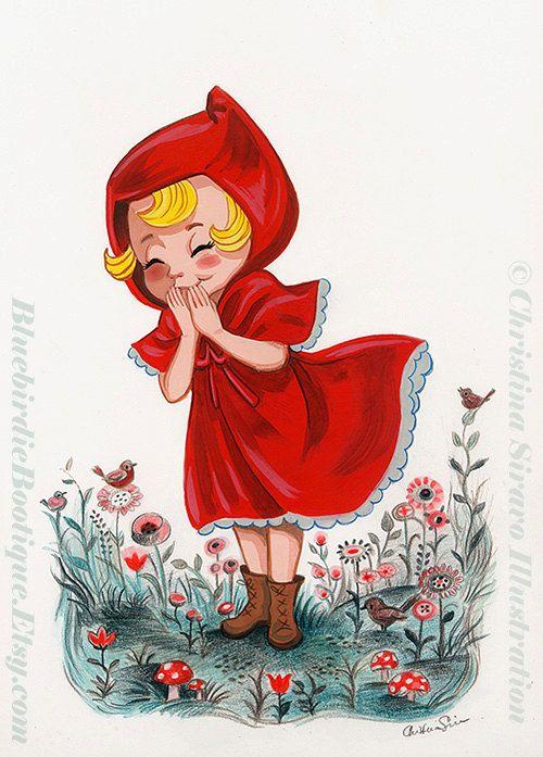 Chica de capa roja