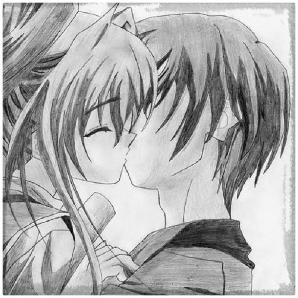 Dibujos De Amor Anime A Lapiz Anime Love Anime Anime Romance