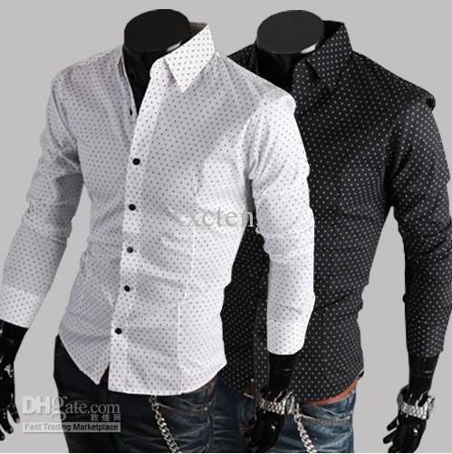 polka dot dress shirt men - Google Search