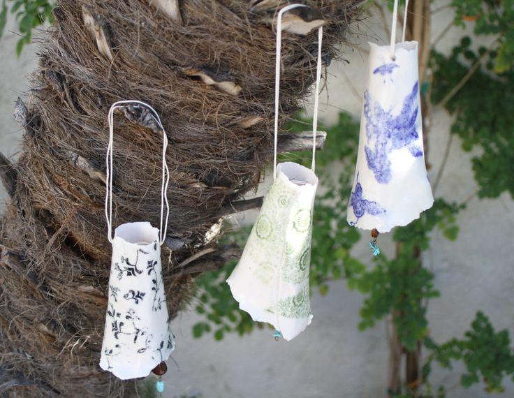 Wind Chime Bell Set Handmade Ceramic Bells Indoor Outdoor Pottery Garden  Art Garden Decor Home Decor