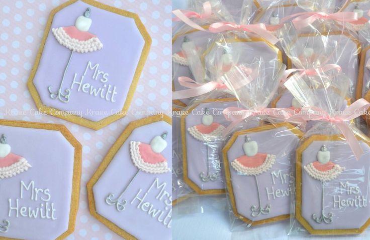 Personalized name bridal shower cookies, tutu theme