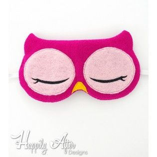 Owl Sleep Mask ITH Embroidery Design