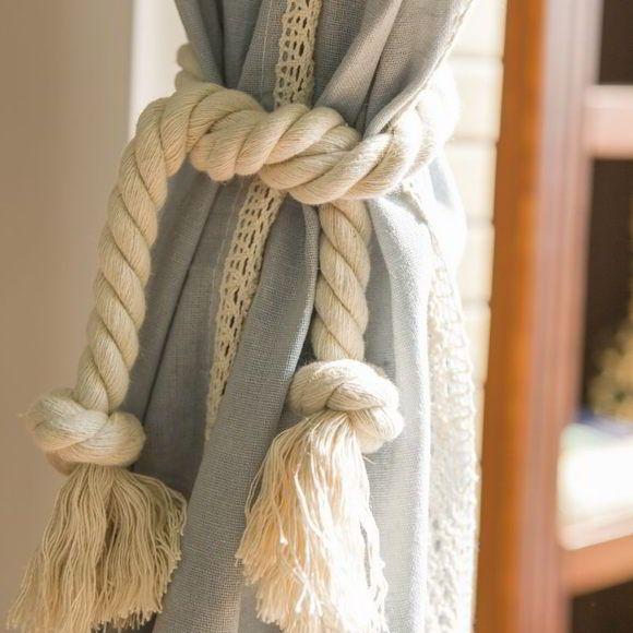 веревочные подхваты для штор своими руками