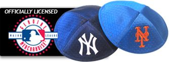Baseball Yarmulkes (Kippot), MLB Mets & Yankees Logos from Klipped Kippahs - mazelmoments.com