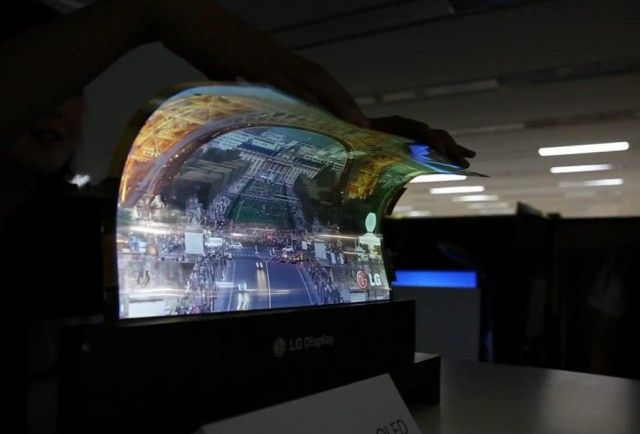 LG's transparent OLED and a flexible display in action - Videos in link