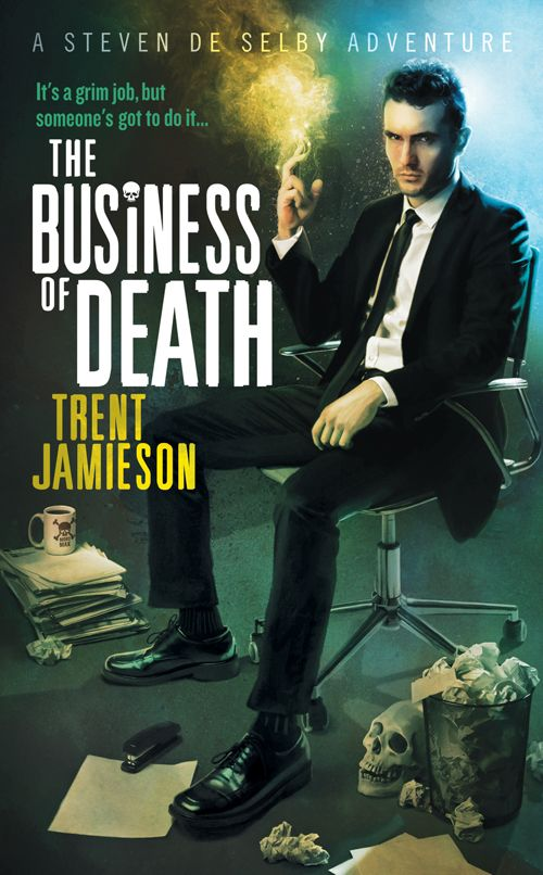 Trent Jamieson's Death Works trilogy.  Trent shares his talents in RAF v.5 no.4  http://reviewofaustralianfiction.com/product/9781922171306
