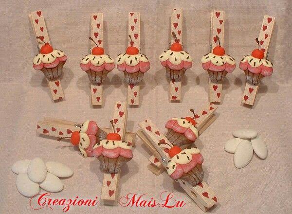 Mollette Cupcake chiudisacchetti