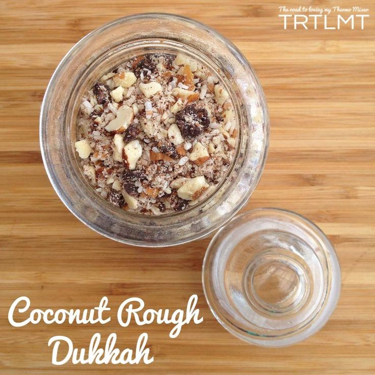 Dukkah is a mix of nuts or seeds and other flavourings, usually spices, of choice. This is great to sprinkle on top of