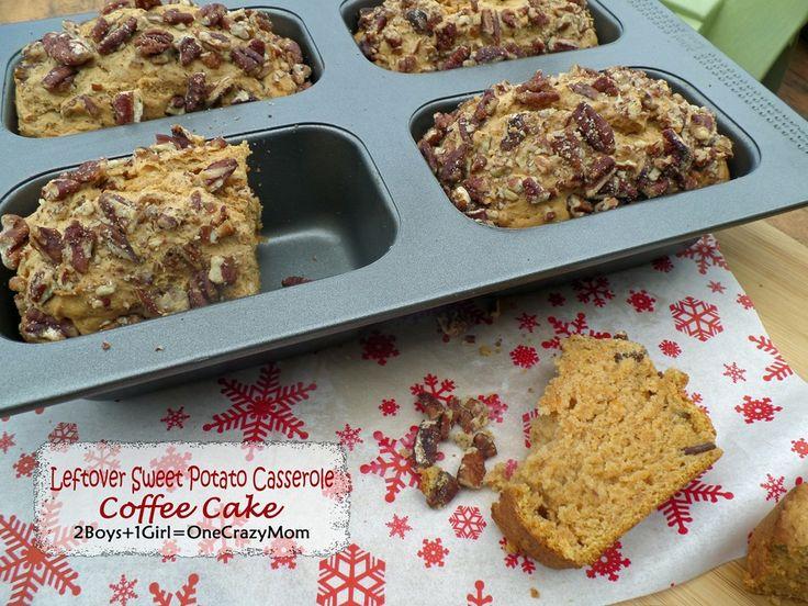 Create a simple leftover Sweet Potato Casserole Coffee Cake #Recipe