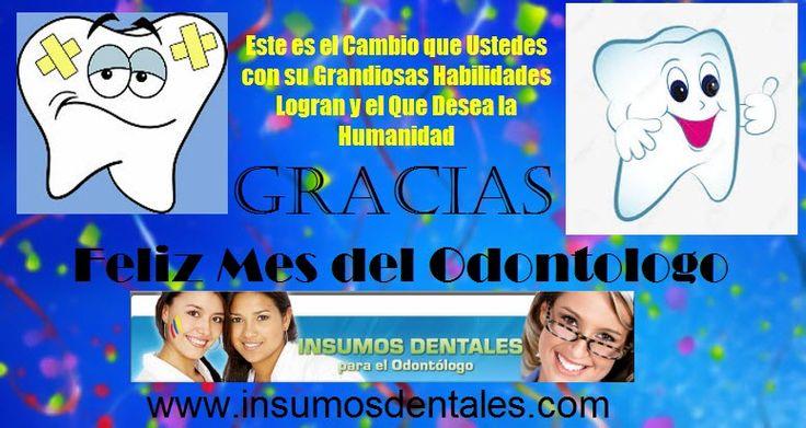 !! GRACIAS !!! Insumos Dentales les desea un ! FELIZ MES DEL ODONTOLGO ! Siempre a su servicio con todo lo necesario para su Labor Diaria, Unidades, Compresores, Autoclaves, Cavitrones, Electrobisturi, Rayos X, Productos FGM, Productos Ultradent y mucho mas.... www.insumosdentales.com Cel: 3143834784-3202276933 Whatsapp: +57 3143834784 Bogota - Colombia #unidadesdraco #draco #somosfabricantesdeunidadesodontologicas #unidadesvex #vex #Autoclavesodontologicos #unidadesodontologicas