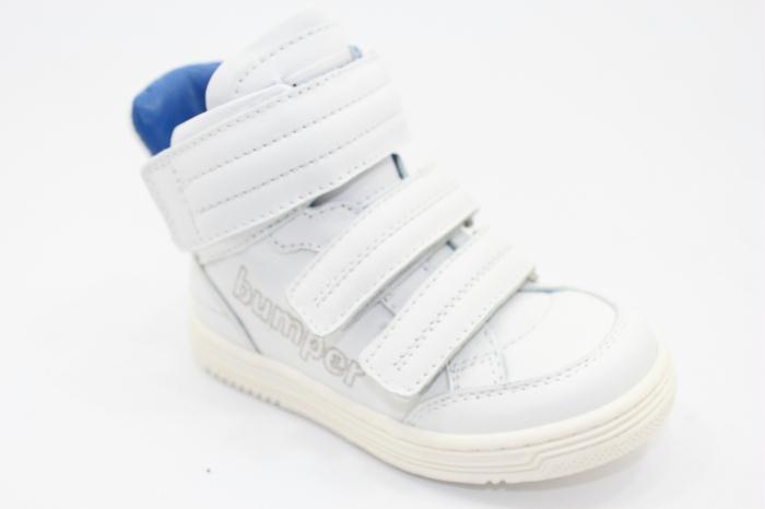 Bumper sneaker with blu lining