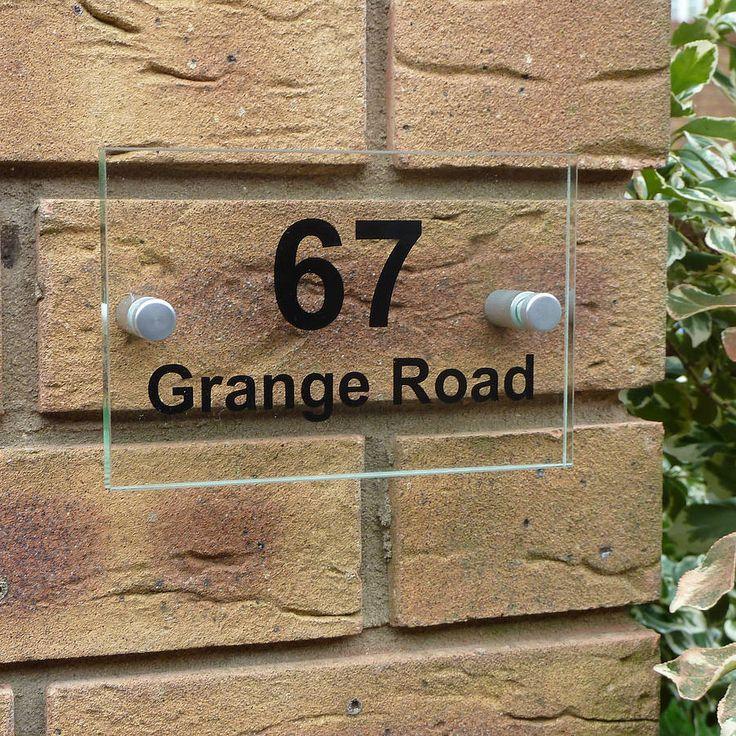 Acrylic Door Number Sign 14 best House
