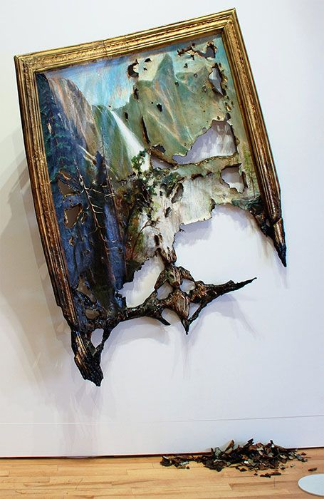 Seen this weekend at the Brooklyn Museum of Art. Fallen Bierstadt, by Valerie Hegarty. Stunning.