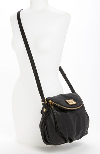 MARC BY MARC JACOBS 'Classic Q - Natasha' Crossbody Flap Bag | Saw a girl carrying this at the airport. Badass and chic together!