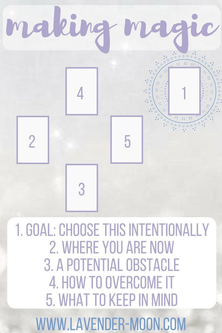 making magic: a tarot spread for manifesting your goals (plus an example reading!)