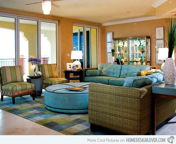 Attractive 15 Traditional Tropical Living Room Designs