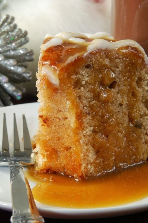 Apple Harvest Pound Cake with Walnuts & A Caramel Glaze _ This is a fantastic Bundt cake that my Grandmother used to make. It has been a family favorite for years!