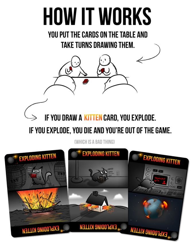 This is a card game for people who are into kittens and explosions and laser…