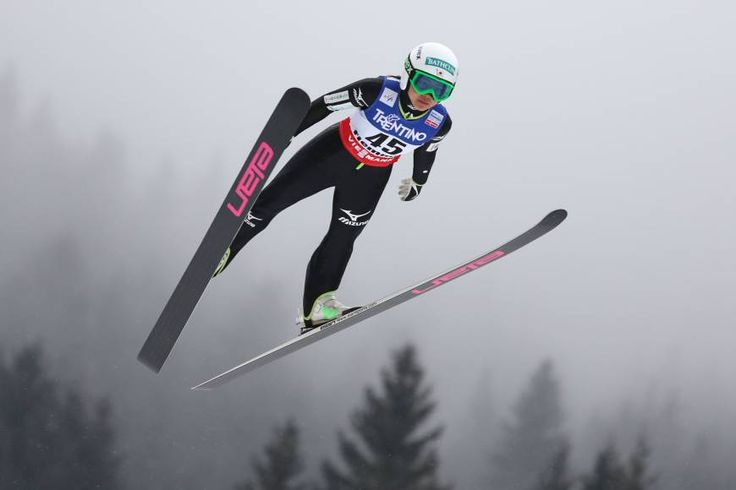 Full flight: Teenage ski jumper Sara Takanashi is seen as one of Japan's best hopes for a gold medal at the Sochi Olympics.